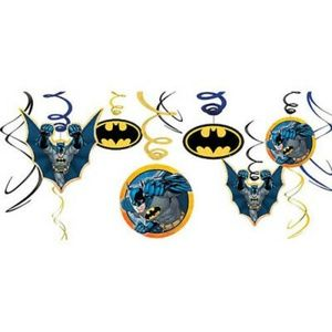 Kid's Batman Foil Swirl Hanging Decorations